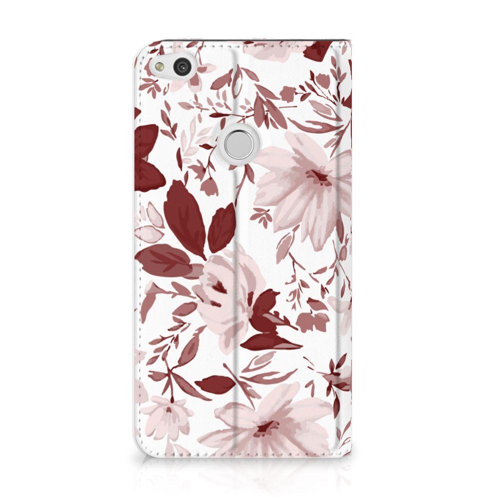 Huawei P8 Lite 2017 Uniek Standcase Hoesje Watercolor Flowers