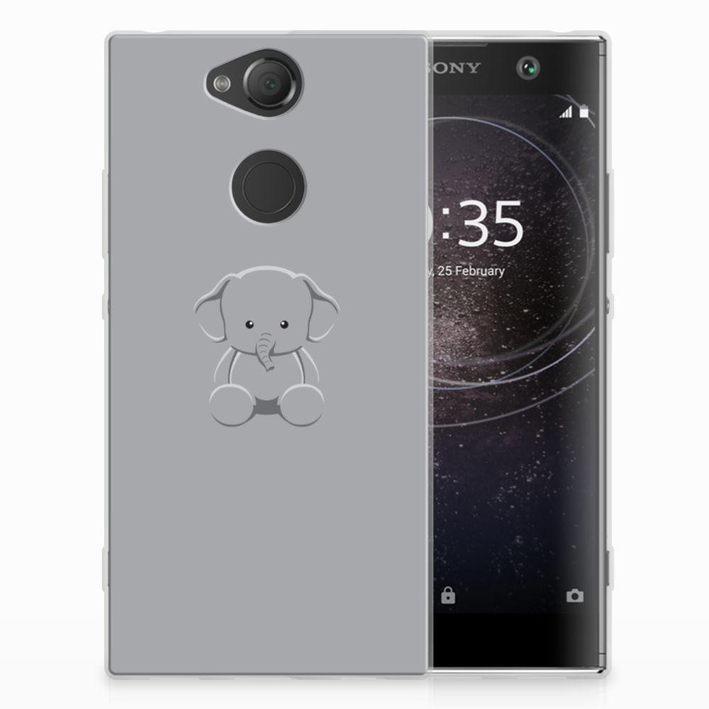 Sony Xperia XA2 Uniek TPU Hoesje Baby Olifant