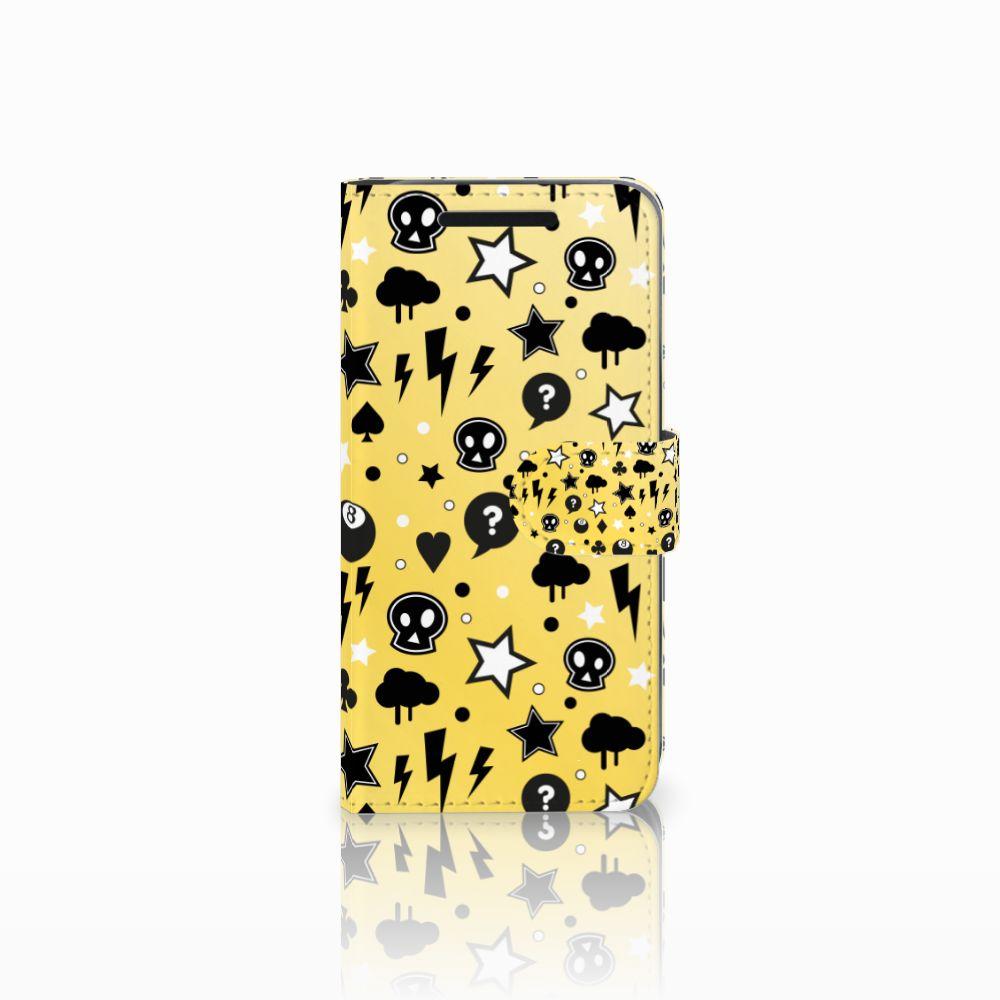 Telefoonhoesje met Naam HTC One M9 Punk Geel