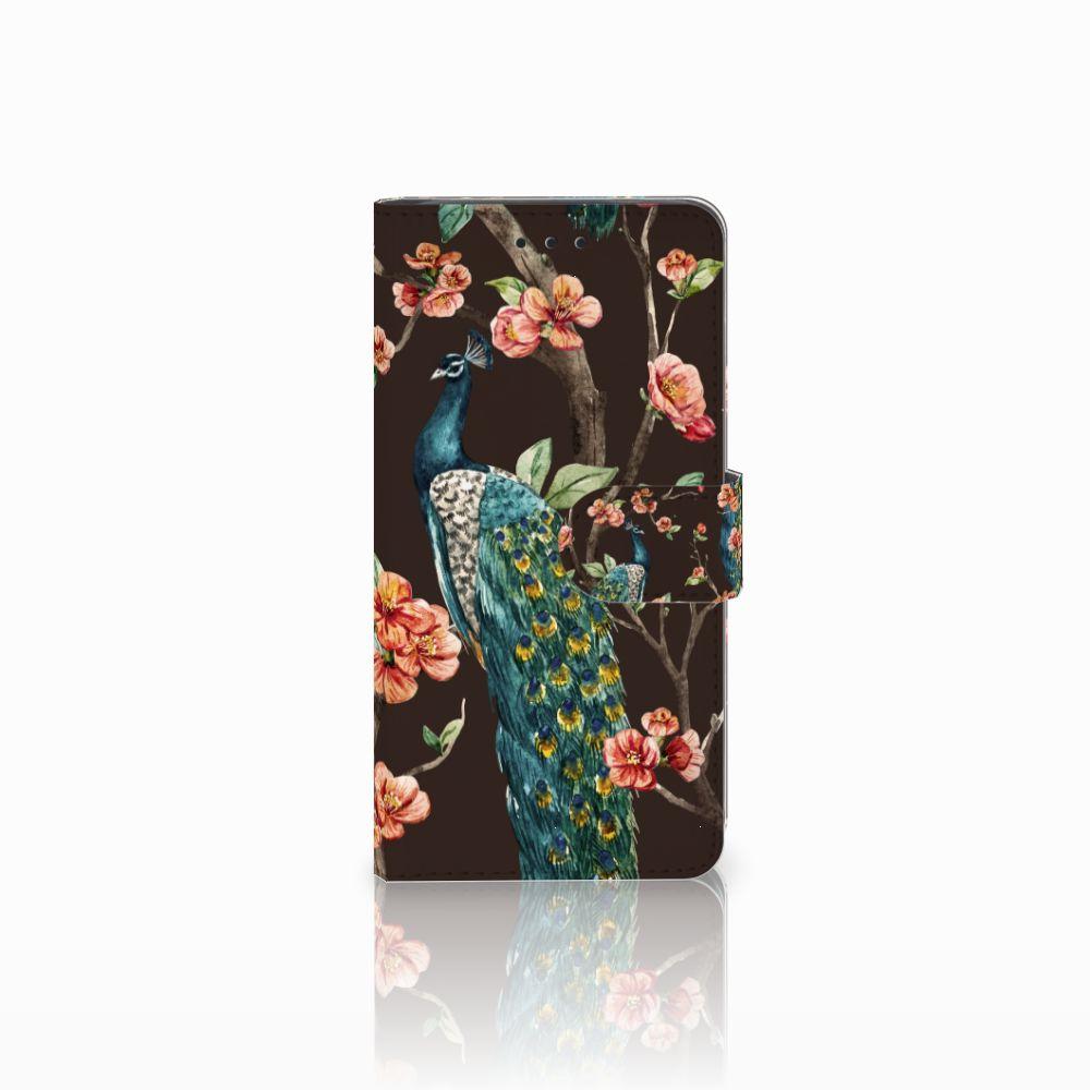 Huawei G8 Boekhoesje Design Pauw met Bloemen