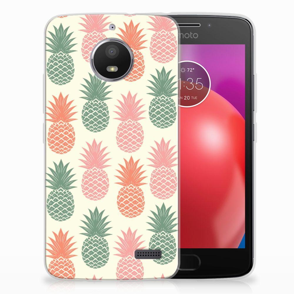 Motorola Moto E4 Siliconen Case Ananas