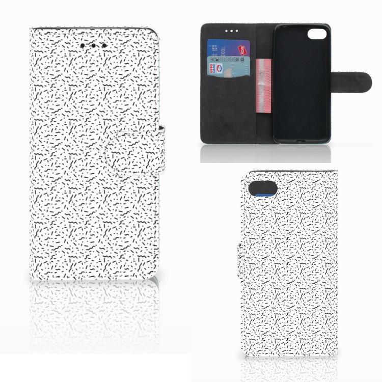 Huawei Y5 2018 Telefoon Hoesje Stripes Dots