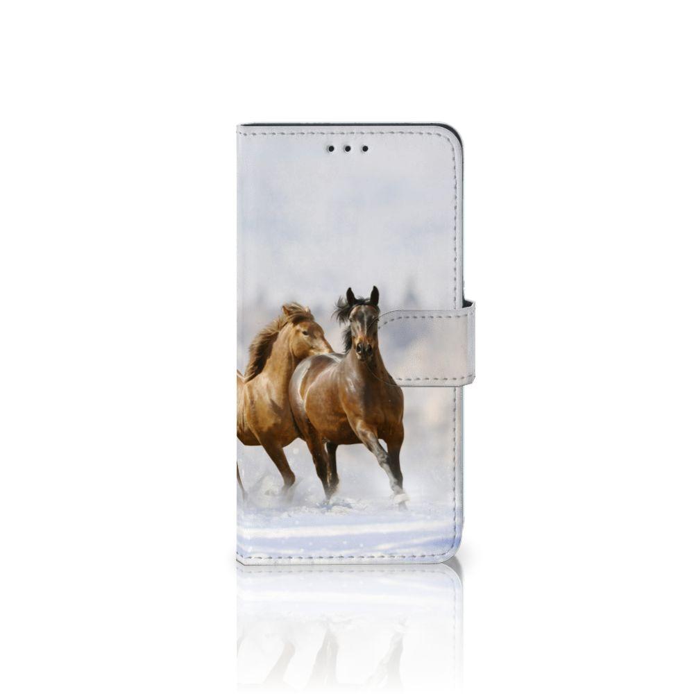 Huawei P10 Lite Uniek Boekhoesje Paarden