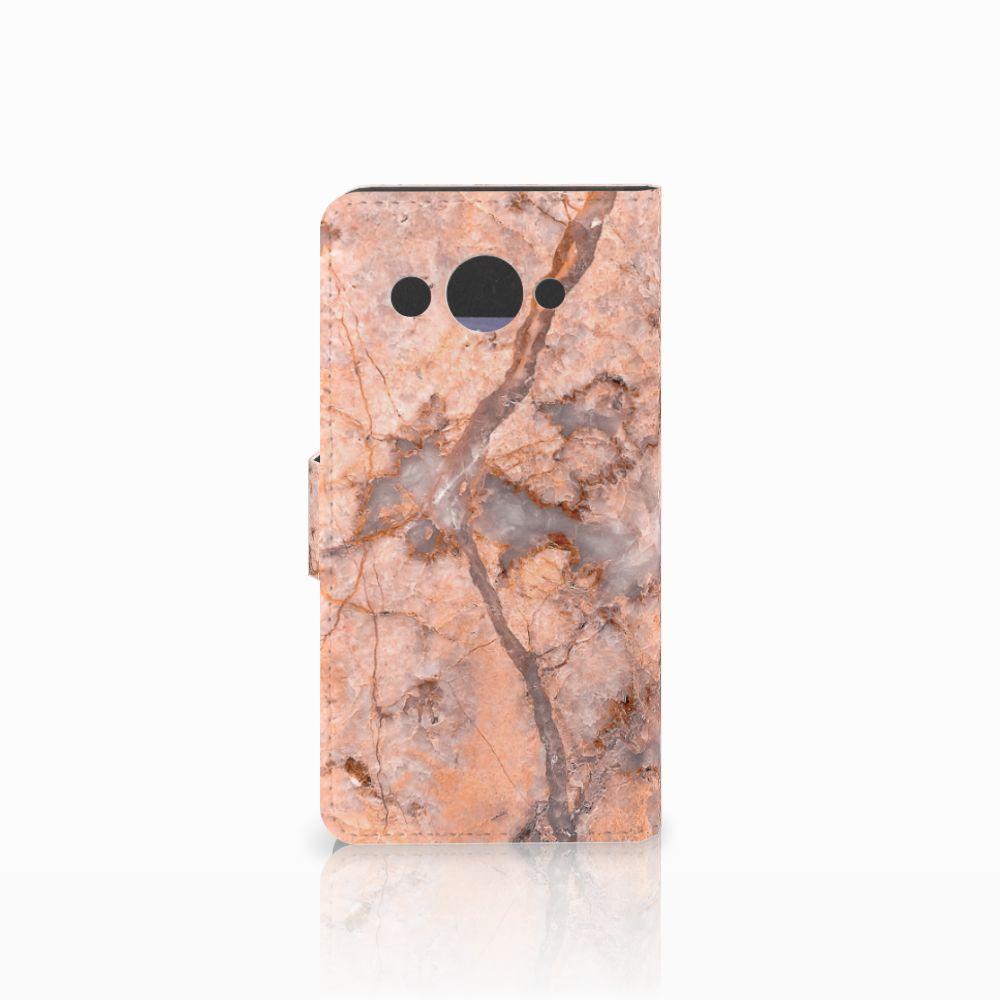 Huawei Y3 2017 Bookcase Marmer Oranje