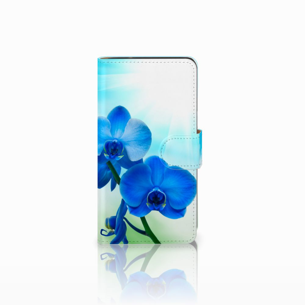 Samsung Galaxy J2 (2015) Boekhoesje Design Orchidee Blauw