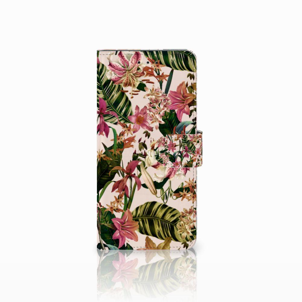 Motorola Moto E5 Plus Uniek Boekhoesje Flowers
