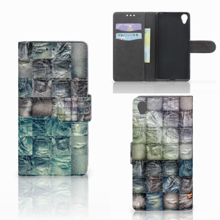 Wallet Case met Pasjes Sony Xperia X Spijkerbroeken