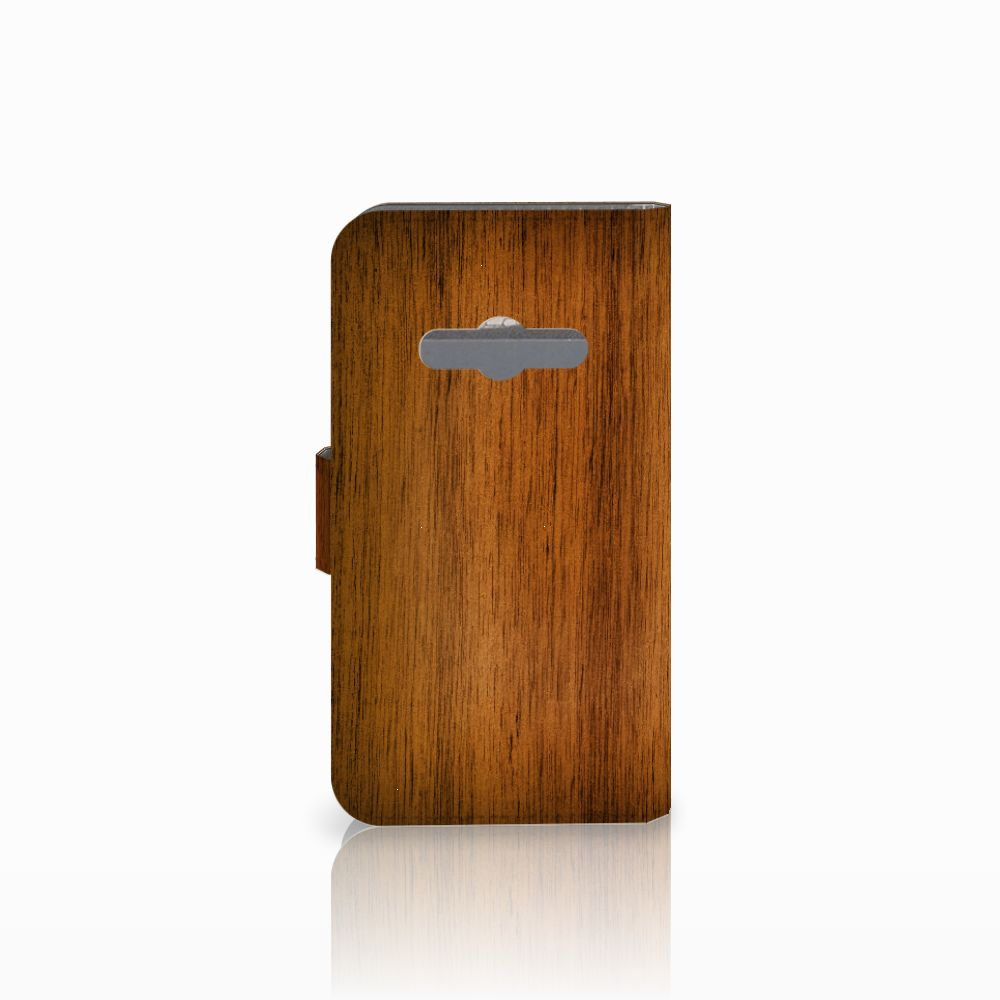 Samsung Galaxy Xcover 3 | Xcover 3 VE Book Style Case Donker Hout