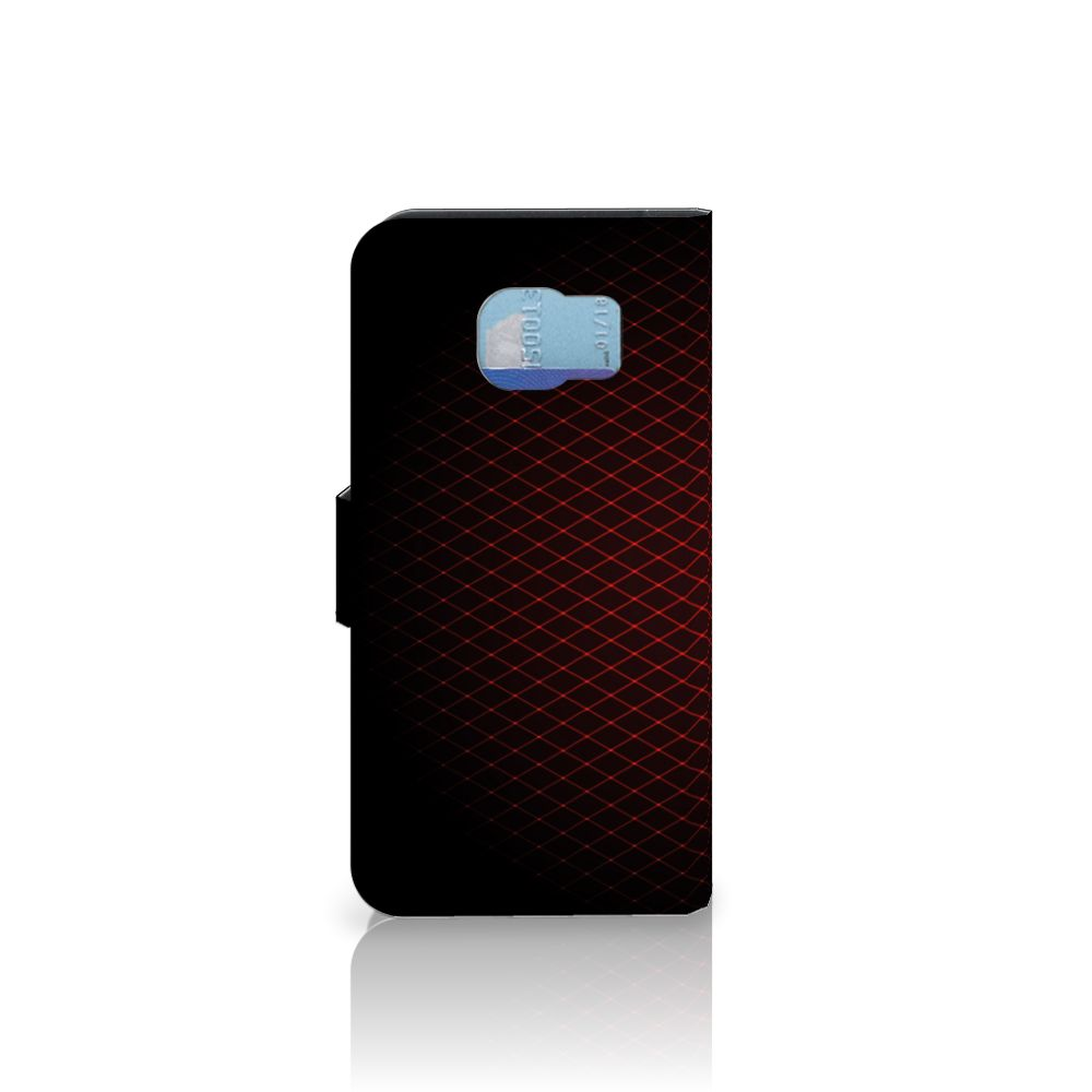 Samsung Galaxy S6   S6 Duos Telefoon Hoesje Geruit Rood