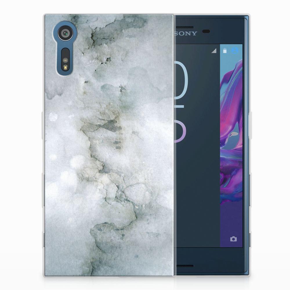 Sony Xperia XZs | XZ Uniek TPU Hoesje Painting Grey