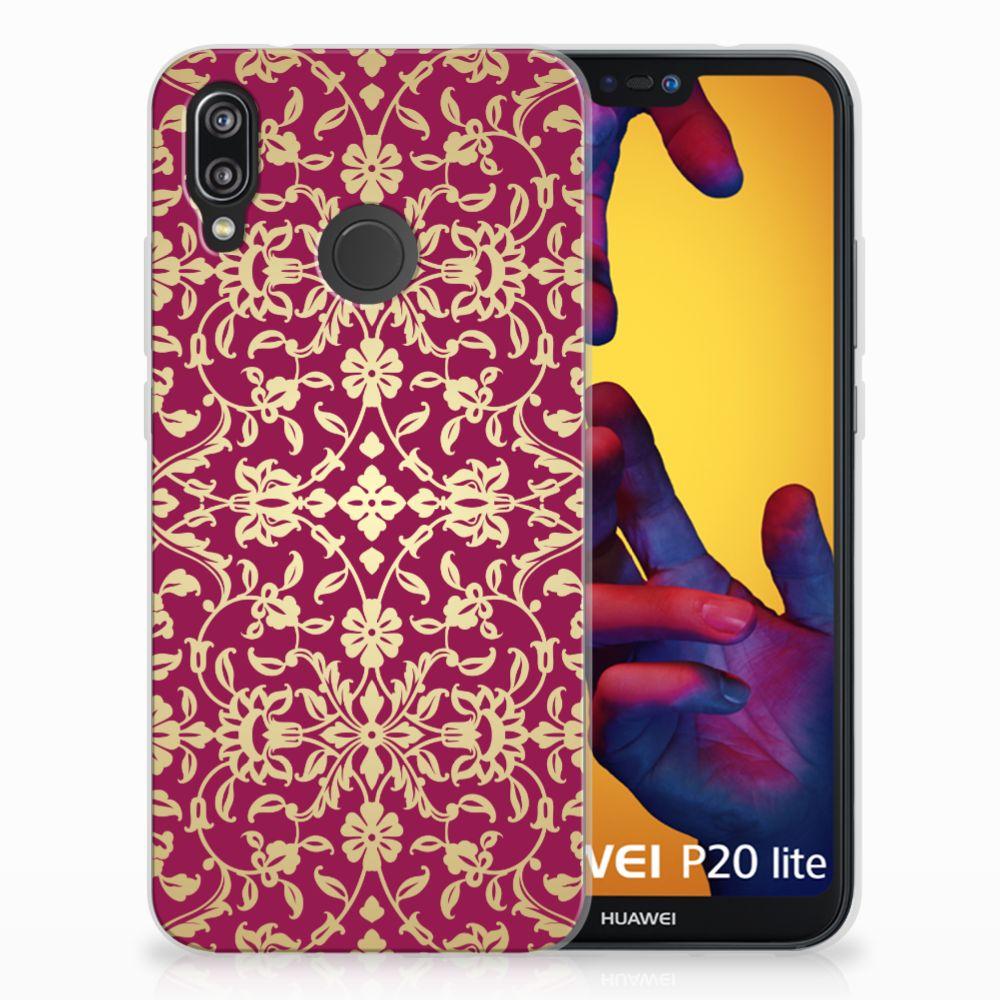 Siliconen Hoesje Huawei P20 Lite Barok Pink