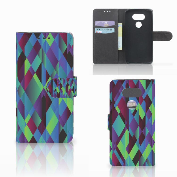 LG G5 Bookcase Abstract Green Blue