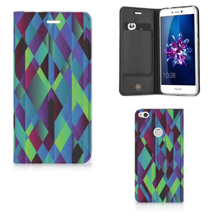 Huawei P8 Lite 2017 Stand Case Abstract Green Blue