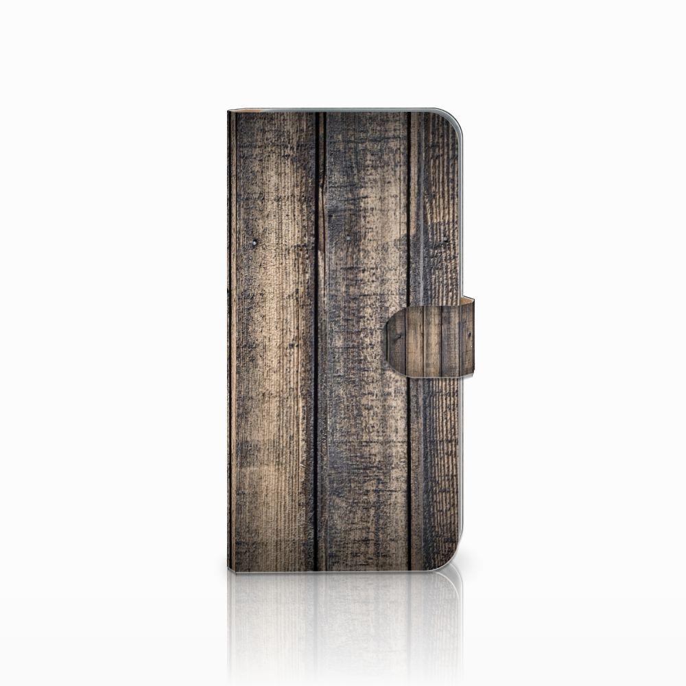 HTC Desire 10 Pro Boekhoesje Design Steigerhout
