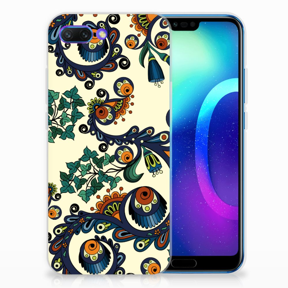 Huawei Honor 10 TPU Hoesje Design Barok Flower