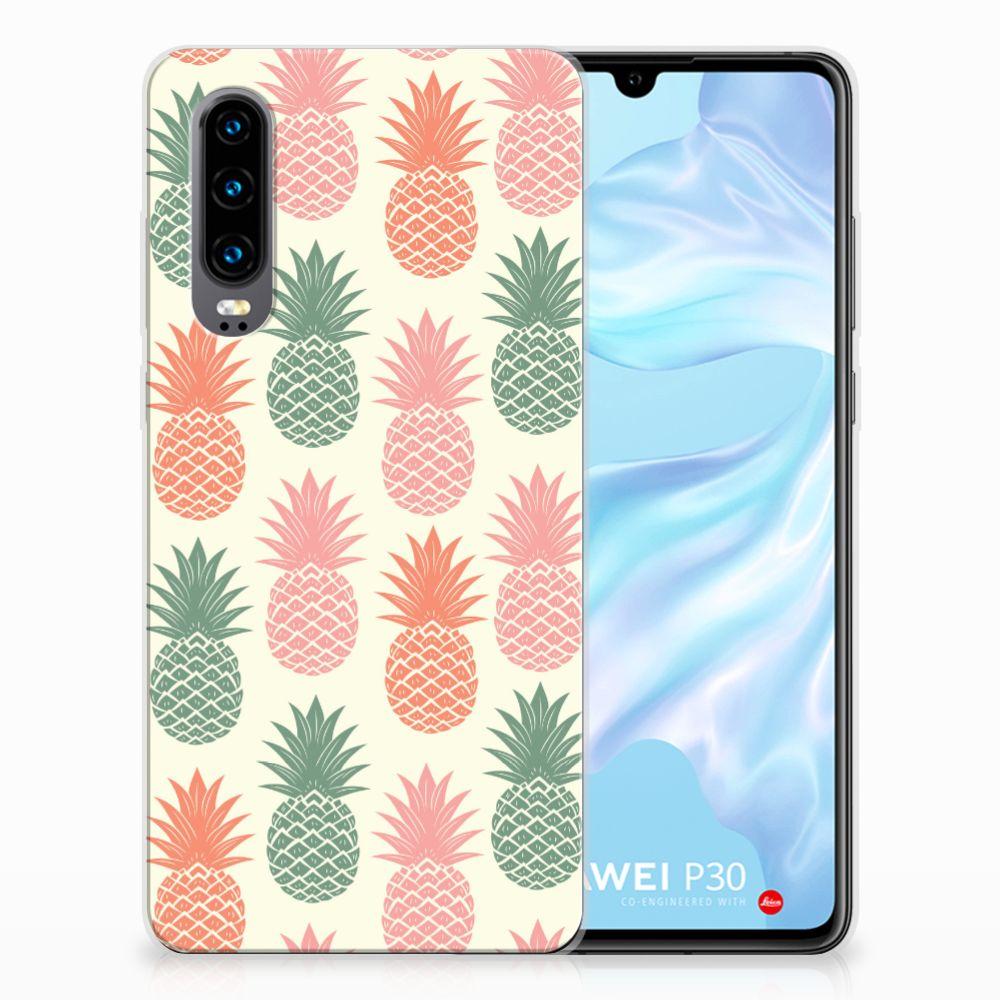 Huawei P30 TPU Hoesje Design Ananas