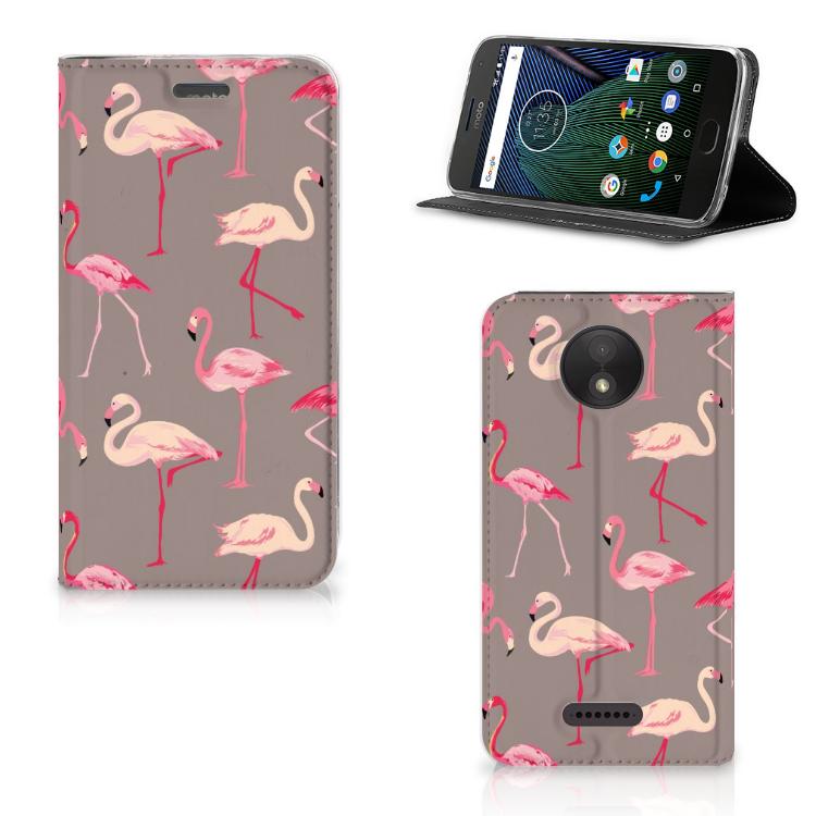 Motorola Moto C Plus Hoesje maken Flamingo