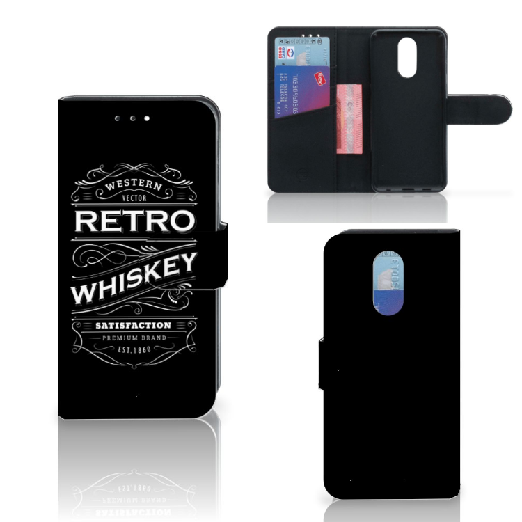 LG Q7 Book Cover Whiskey