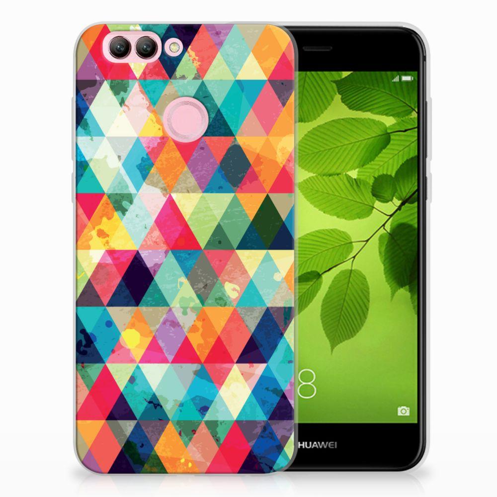 Huawei Nova 2 Uniek TPU Hoesje Geruit