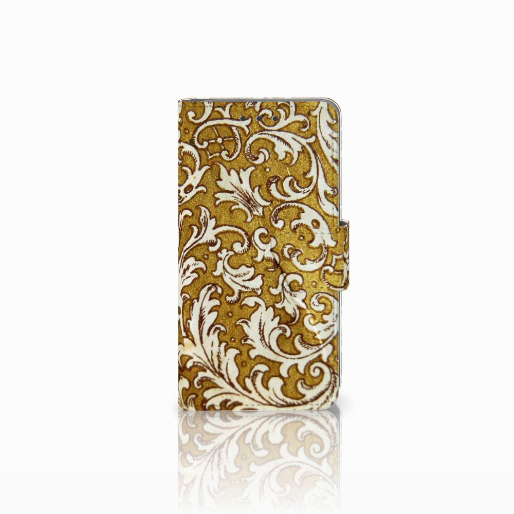 Samsung Galaxy A3 2015 Boekhoesje Design Barok Goud