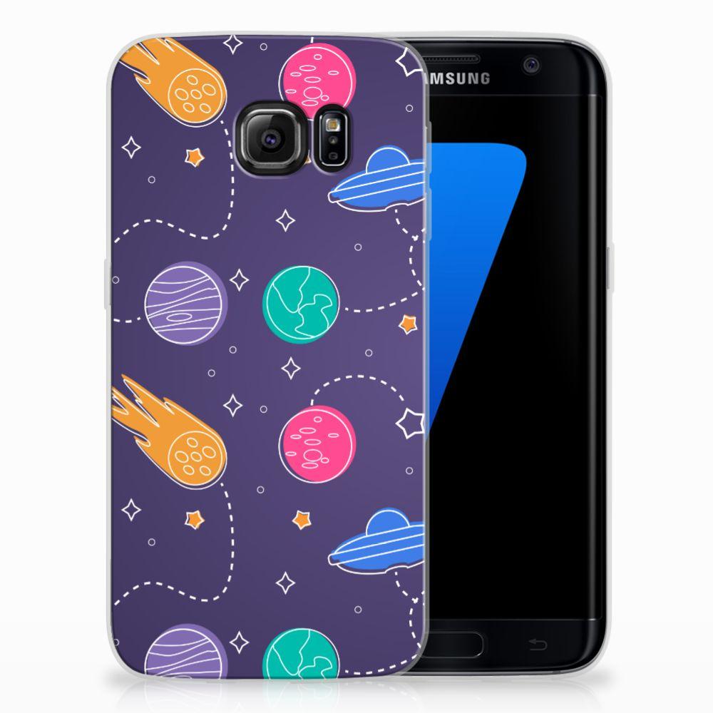 Samsung Galaxy S7 Edge Uniek TPU Hoesje Space