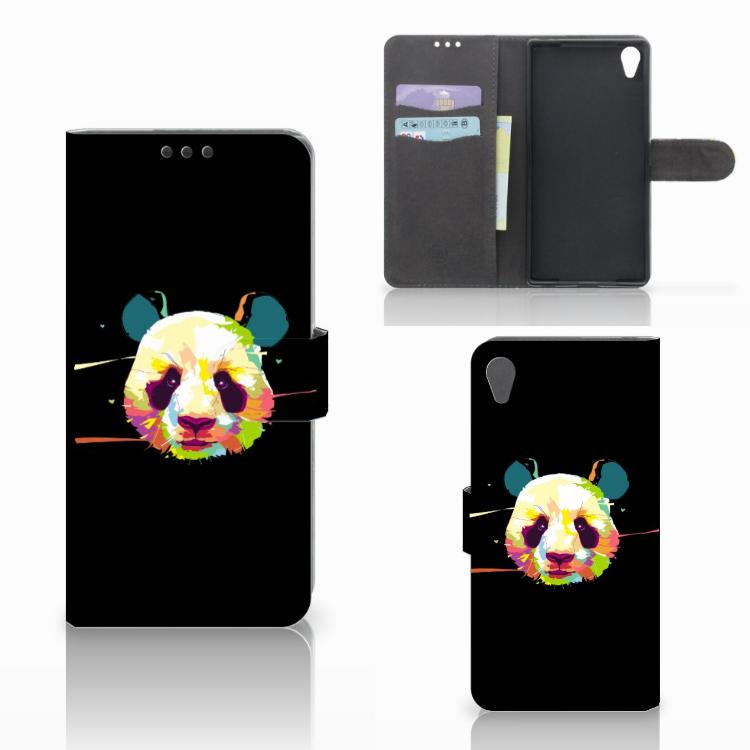 Sony Xperia Z5 Premium Leuke Hoesje Panda Color