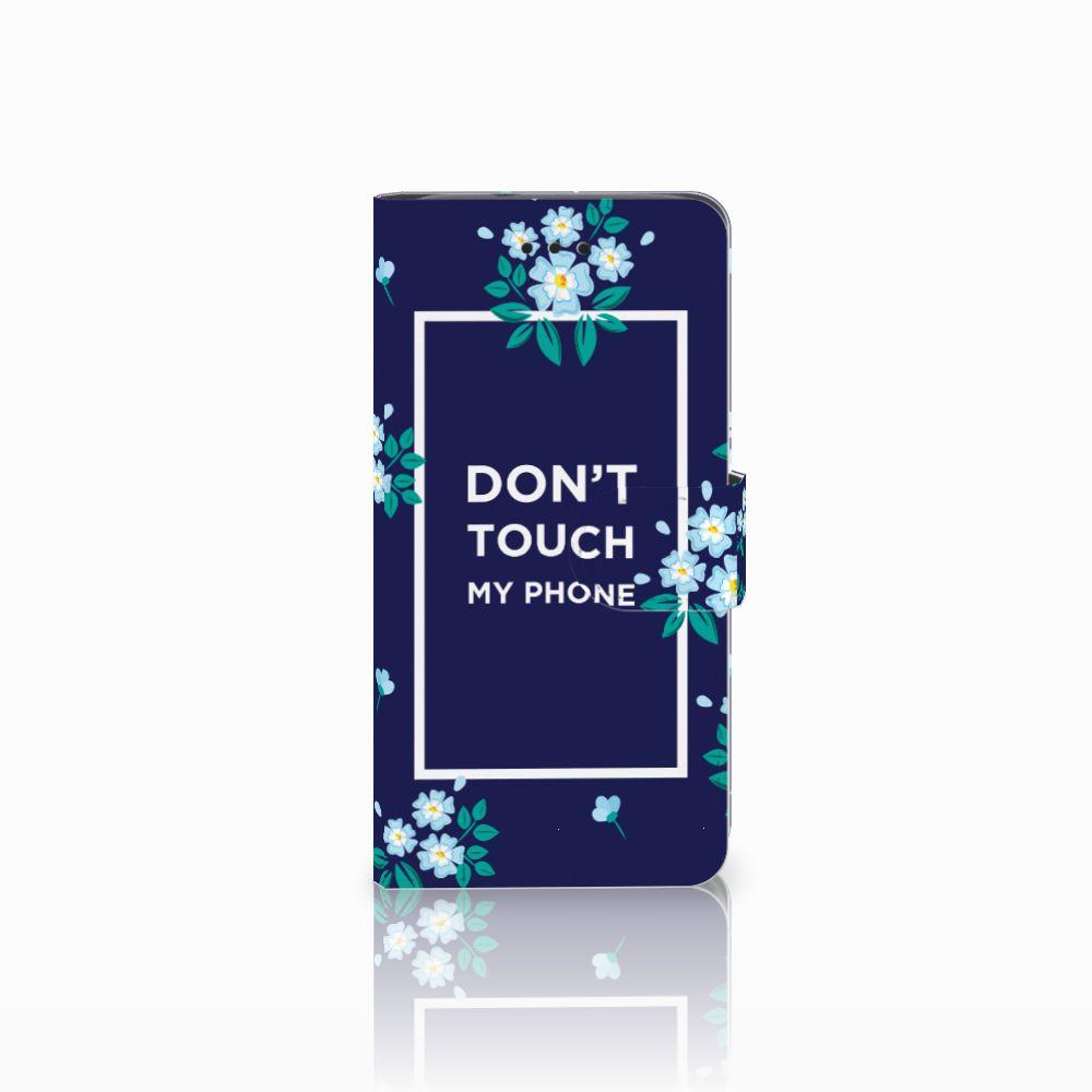 Huawei Y3 2017 Boekhoesje Flowers Blue DTMP