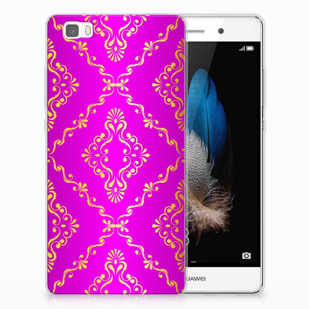 Siliconen Hoesje Huawei Ascend P8 Lite Barok Roze