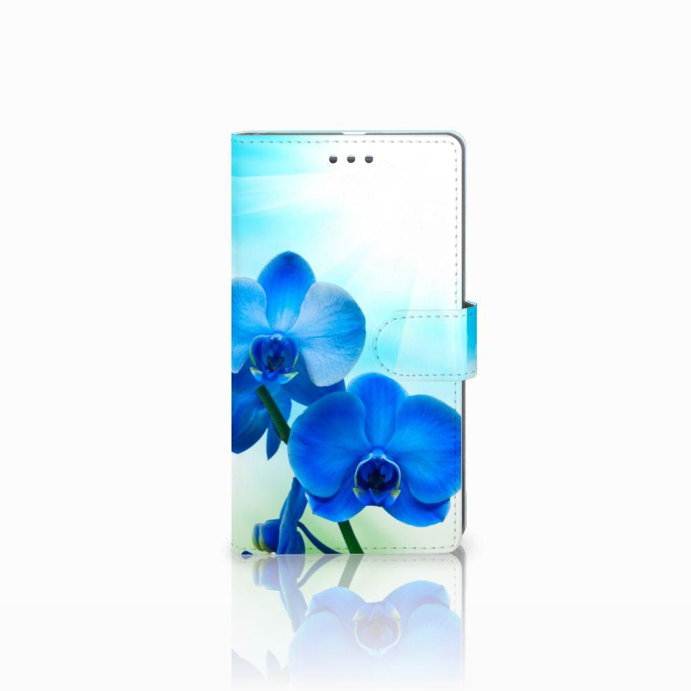 Microsoft Lumia 950 XL Boekhoesje Design Orchidee Blauw