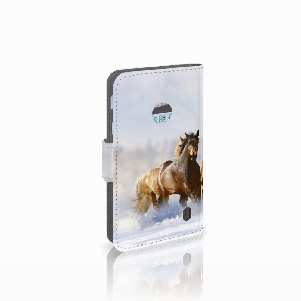 Nokia Lumia 520 Uniek Boekhoesje Paarden