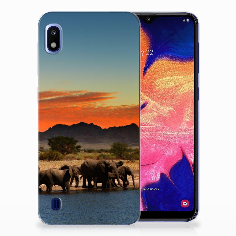 Samsung Galaxy A10 TPU Hoesje Olifanten