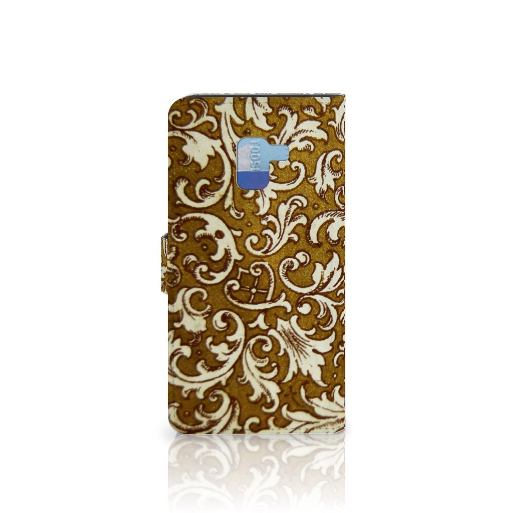 Wallet Case Samsung Galaxy A8 Plus (2018) Barok Goud