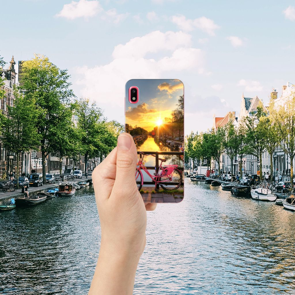 Samsung Galaxy A10 Siliconen Back Cover Amsterdamse Grachten