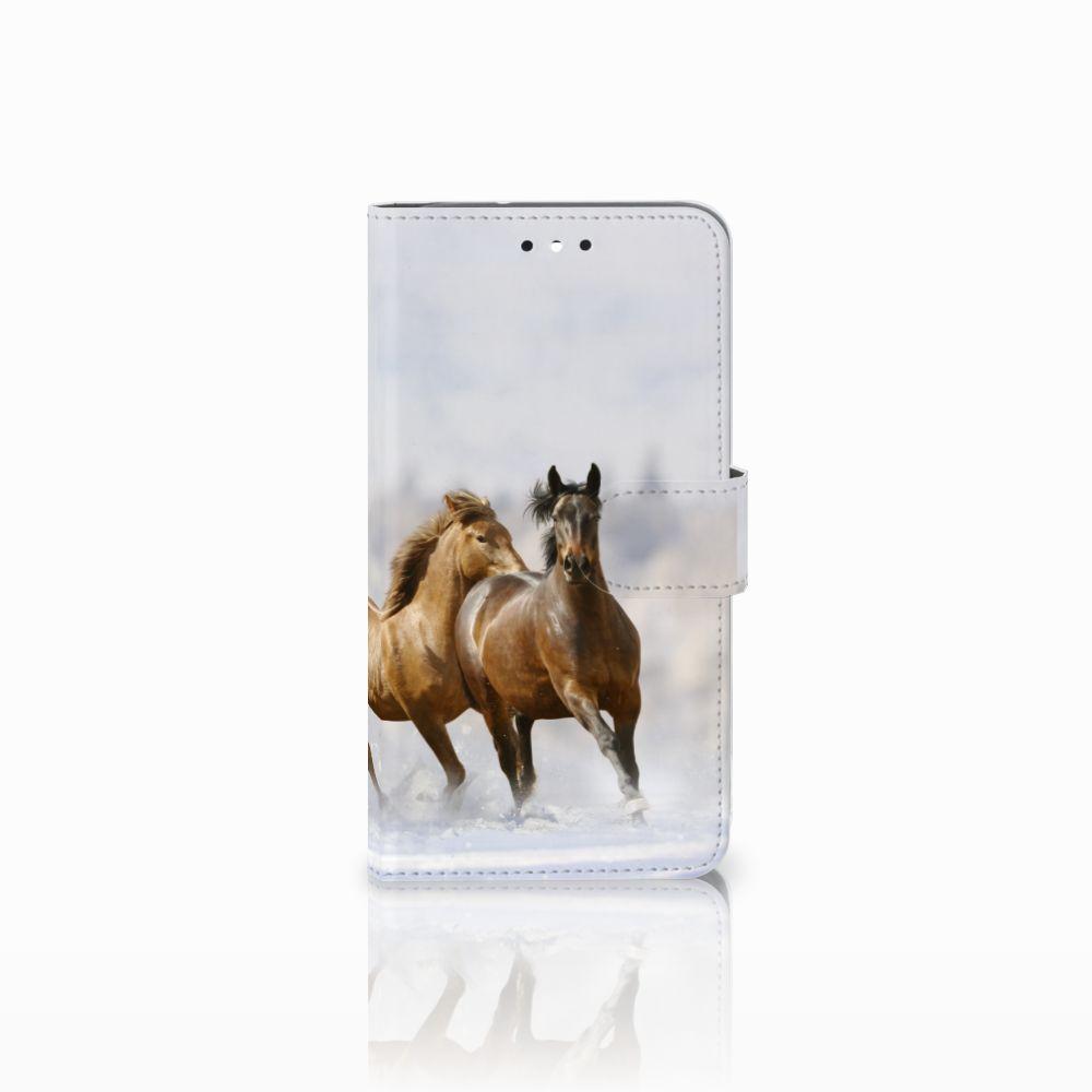 Motorola Moto G4 | G4 Plus Uniek Boekhoesje Paarden