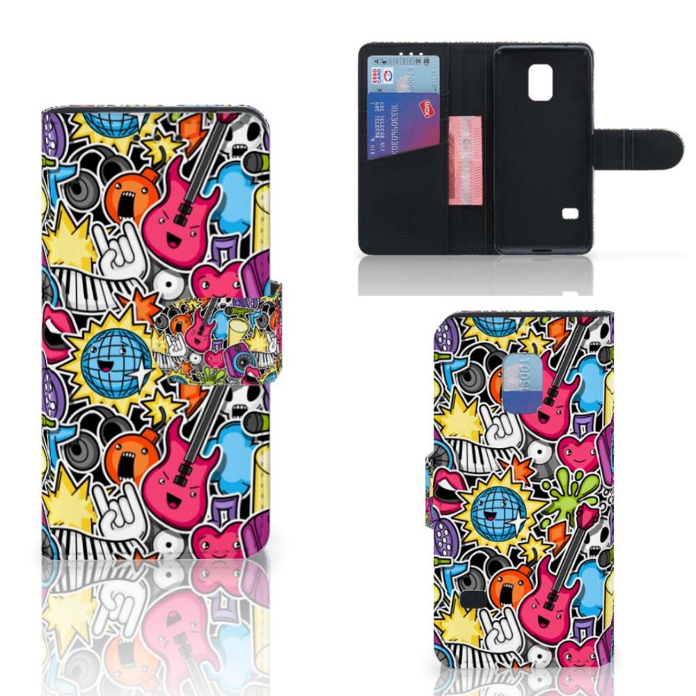 Samsung Galaxy S5 Mini Wallet Case met Pasjes Punk Rock
