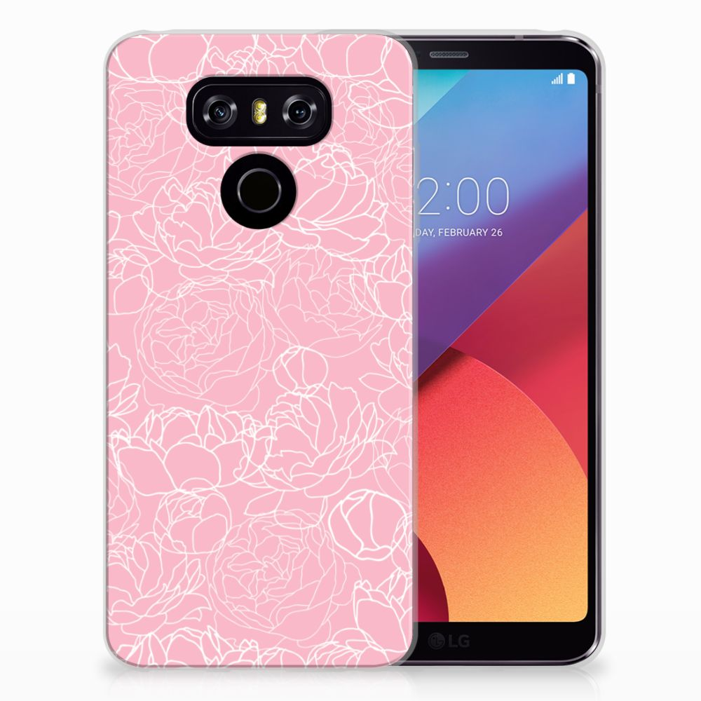 LG G6 Siliconen Hoesje White Flowers