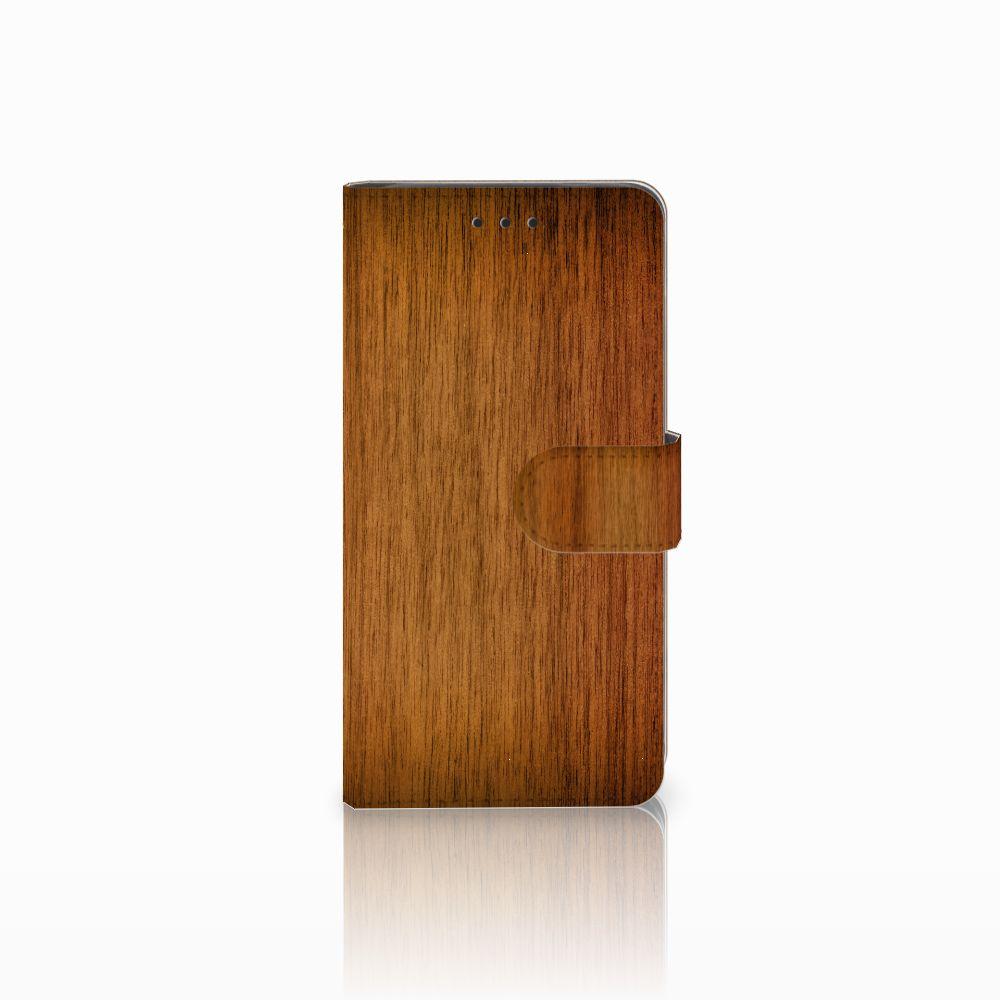 Huawei G8 Uniek Boekhoesje Donker Hout