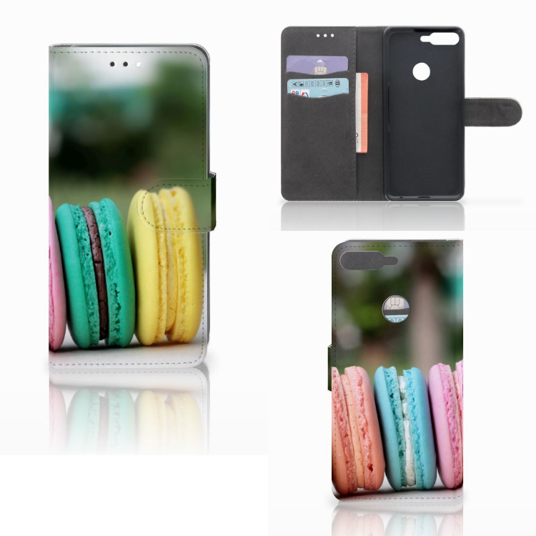 Huawei Y7 2018 Book Cover Macarons