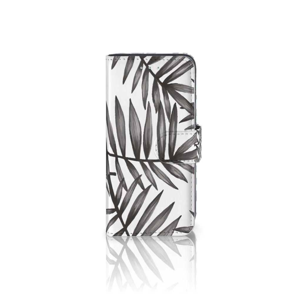 Samsung Galaxy A5 2016 Uniek Boekhoesje Leaves Grey