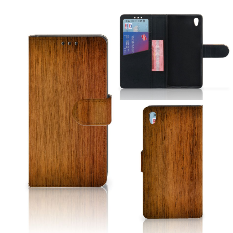 Sony Xperia Z5 | Z5 Dual Book Style Case Donker Hout