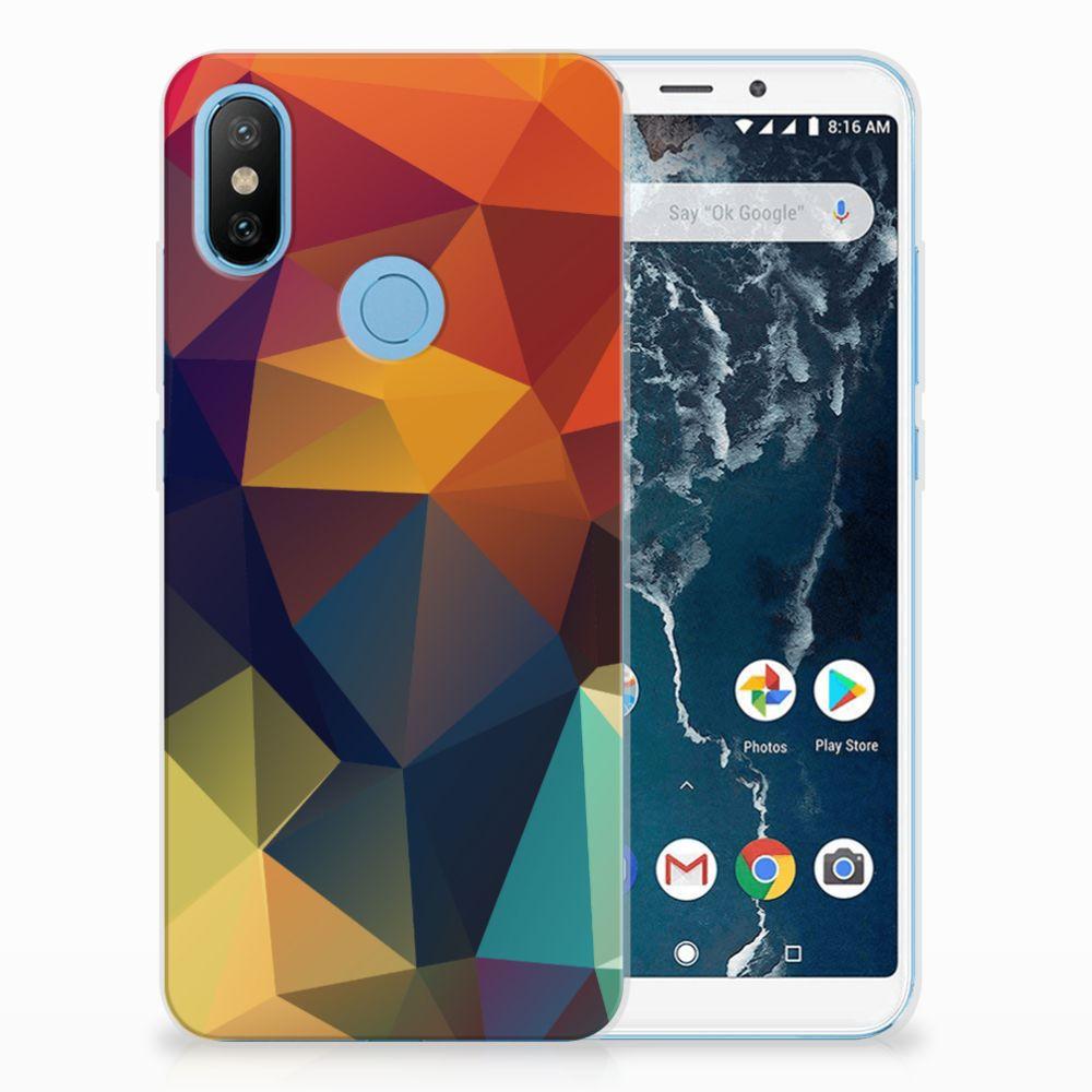 Xiaomi Mi A2 TPU Hoesje Design Polygon Color