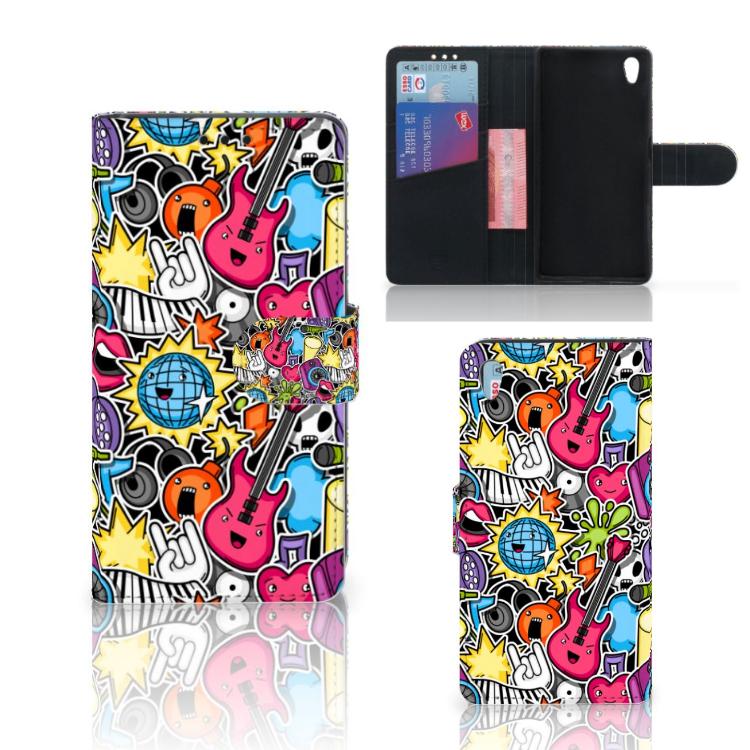 Sony Xperia Z5 | Z5 Dual Wallet Case met Pasjes Punk Rock