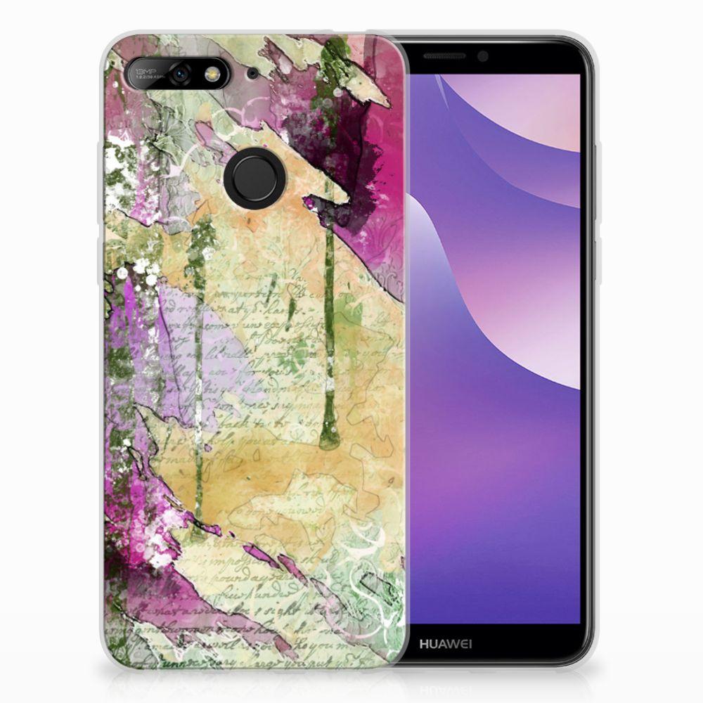Huawei Y6 (2018) Uniek TPU Hoesje Letter Painting