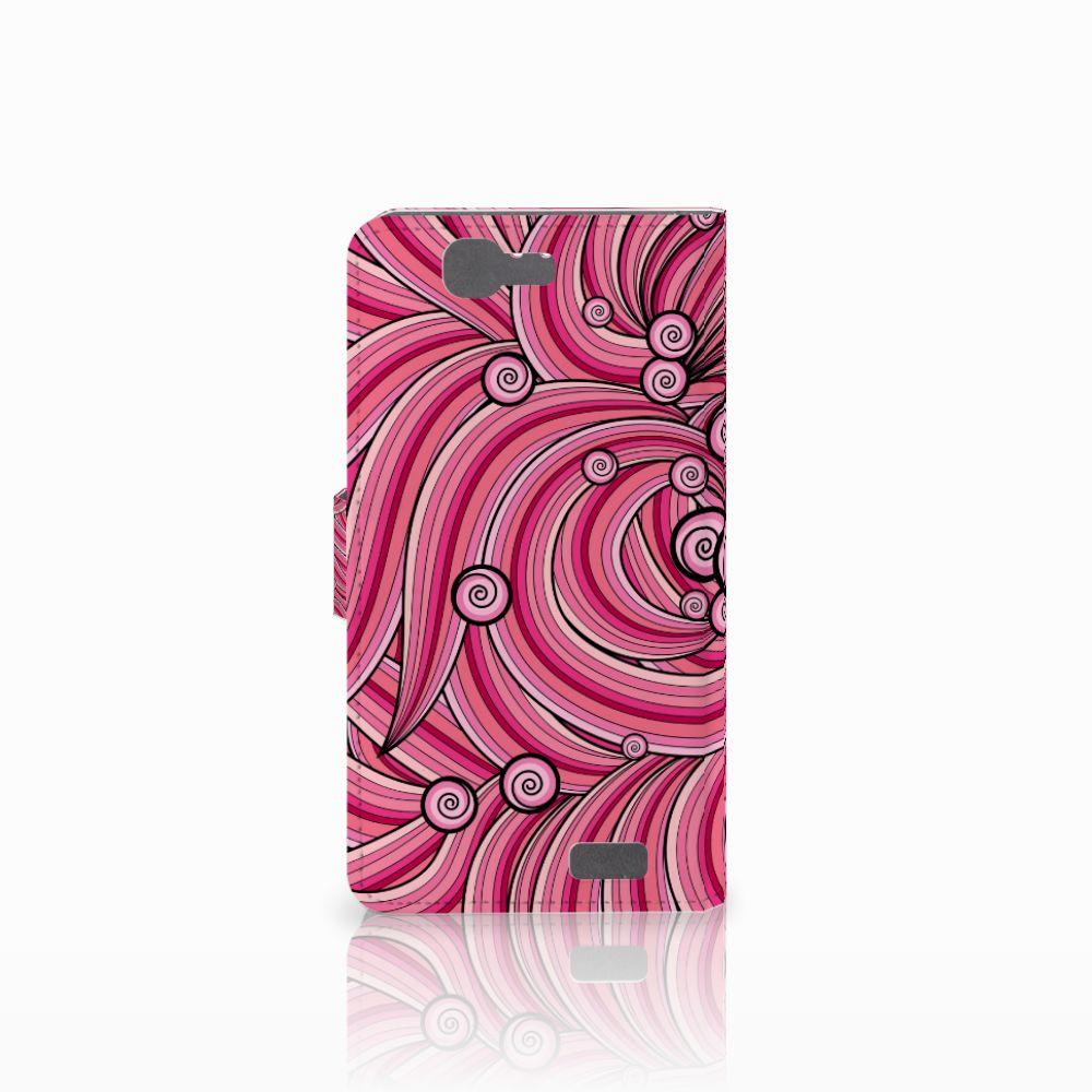 Huawei Ascend G7 Hoesje Swirl Pink