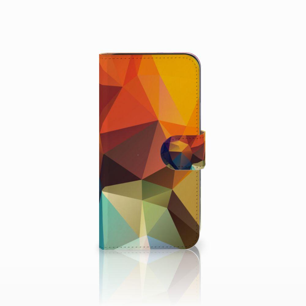 Samsung Galaxy E5 Bookcase Polygon Color