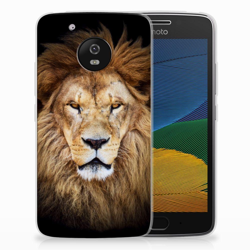 Motorola Moto G5 TPU Hoesje Design Leeuw