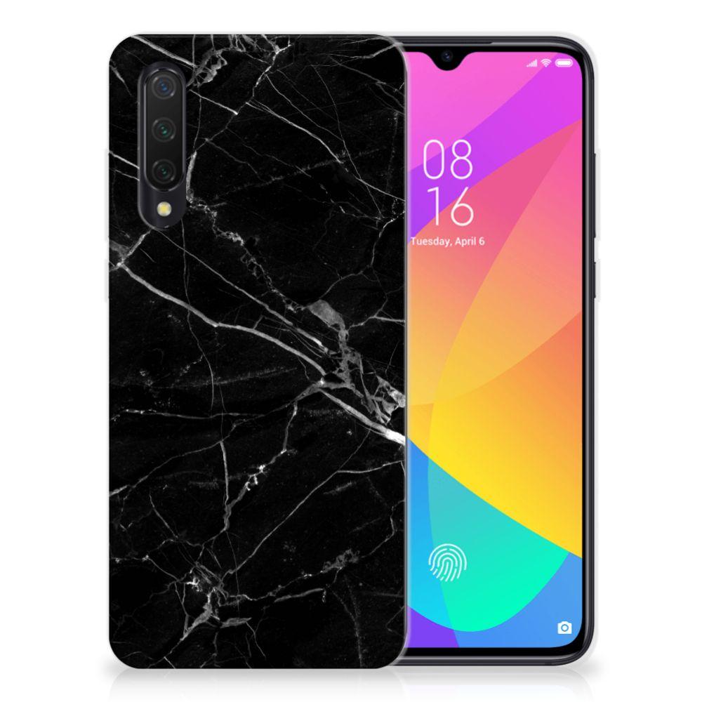 Xiaomi Mi 9 Lite TPU Siliconen Hoesje Marmer Zwart