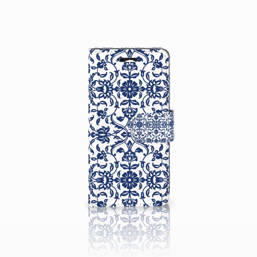 Huawei Y3 2 | Y3 II Uniek Boekhoesje Flower Blue