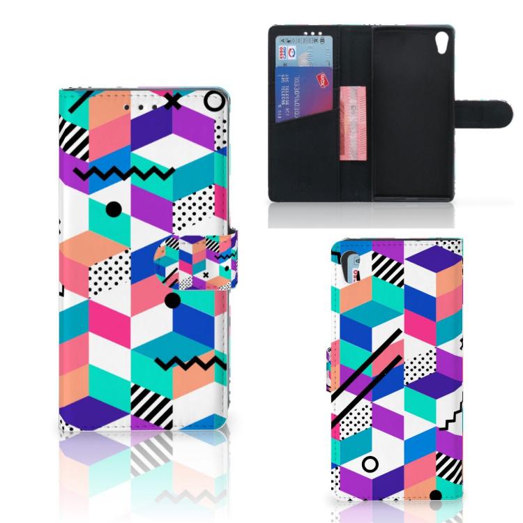 Sony Xperia XA1 Ultra Bookcase Blokken Kleurrijk
