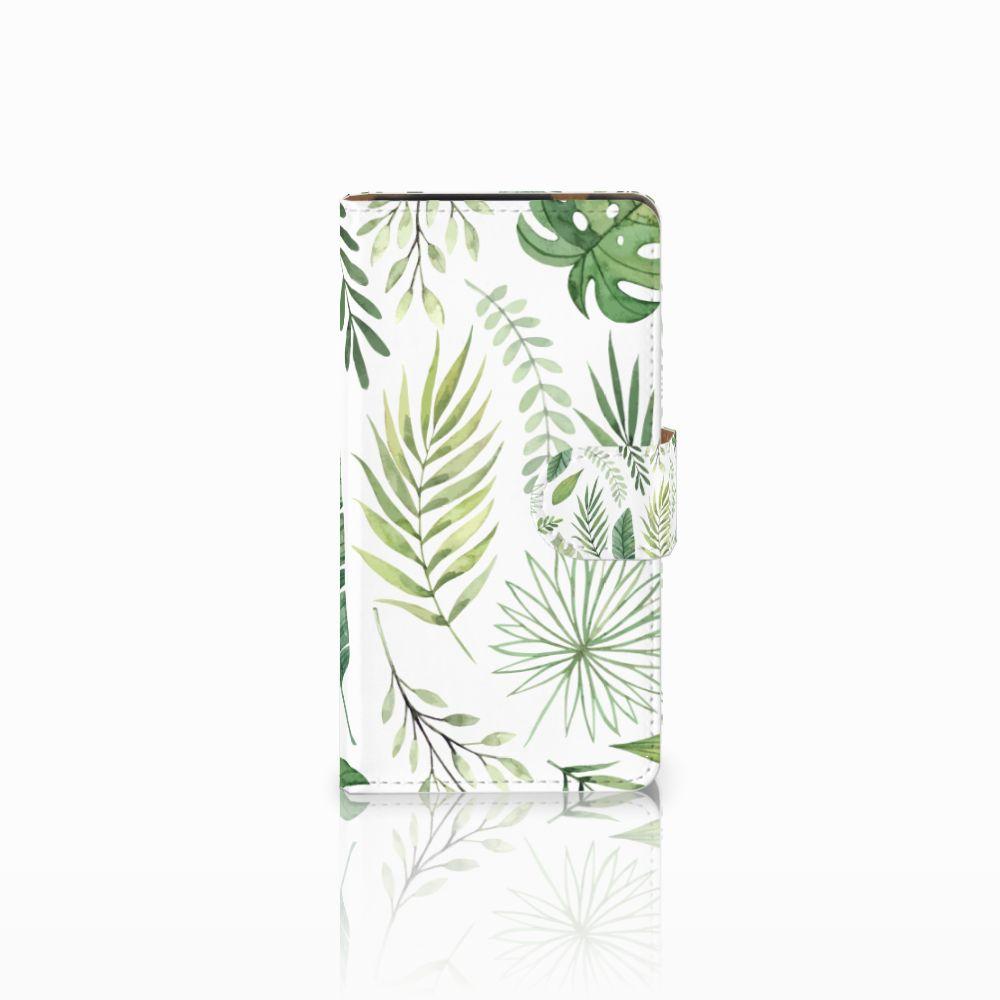 HTC Desire 601 Uniek Boekhoesje Leaves
